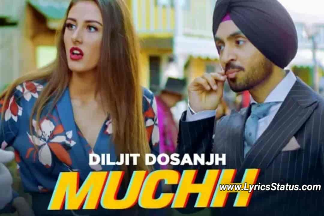 Diljit-Dosanjh-Muchh-Lyrics-Status-Video-Download-Black-Background