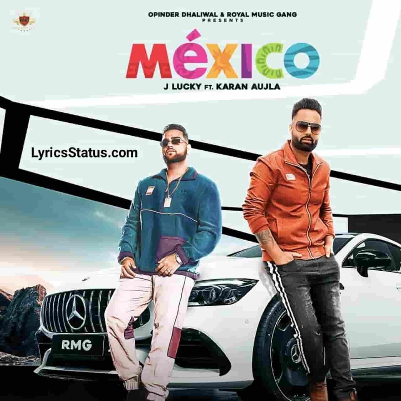 J Lucky Mexico Karan Aujla Lyrics status download punjabi song Party karan Mexico jayi da Vailpuna kara vailiyan de town ch black backgroundstatus