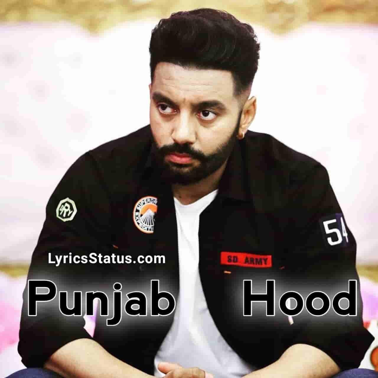 Sippy Gill Punjab Hood Lyrics Status Download Punjabi Song Ni Main Kaahda Vailpuna Chhadya Bacha Bacha Badmash Ho Giya Black Background