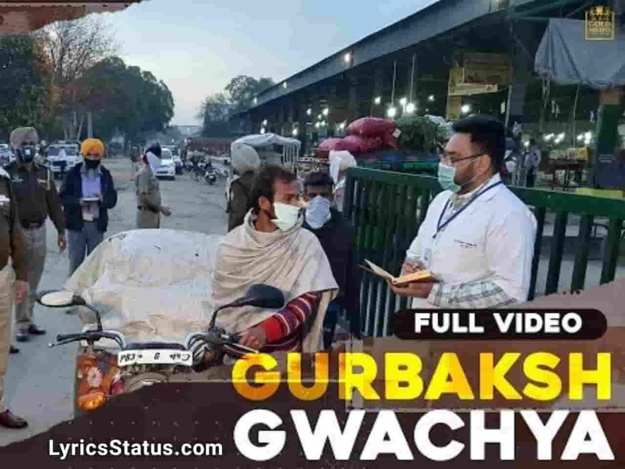 Sidhu Moose Wala Gwacheya Gurbakash R Nait Lyrics Status Download Punjabi Song Main Gurbakash Gwacha Italy ton aaya haan Black Background