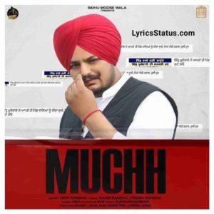 Veer Sandhu Muchh Sidhu Moose Wala Lyrics Status Download Punjabi Song Oh saadi muchh da baal ni patt hona tussi jada pattan nu firde o status