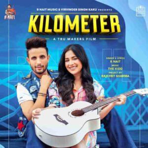 Kilometer R Nait Lyrics Status Download Punjabi Song Munda karke dil de nede Kilometer kyun gindi ae whatsapp status video Black Background.