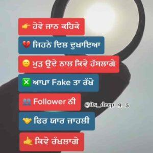 Jahli Yaar Punjabi Attitude Status Download Video Hove jaan keh ke jine dil dukhaya Mud ohde naal kive haslange Apa fake ta rakhe follower ni