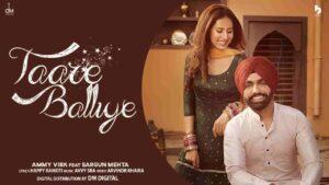 Ammy Virk Taare Balliye Lyrics Status Download Punjabi Song Ho Tethon Je Ginaye Na Main Tare Balliye Ni Mainu Jatt Na Kahi WhatsApp video.
