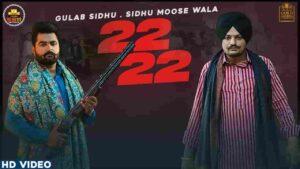 Gulab Sidhu Moose Wala 22 22 Lyrics Status Download Punjabi Song Tere 21an saalan de jatt nu Bai bai kehndi duniya WhatsApp status video Black