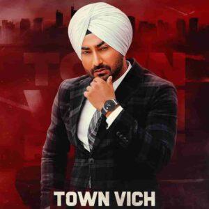 Ranjit Bawa Town Vich Lyrics Status Download Punjabi Song Alladan de dil kad kadd sutt da town vichon janda sardar ni WhatsApp video black.