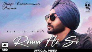 Ranjit Bawa Ronna Hi Si Lyrics Status Download Punjabi Song Main rona hi si eh hona e si dukh mere palle tu pauna hi si WhatsApp video black.